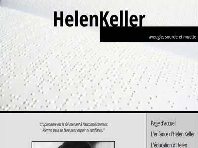 Photo of Helen Keller website