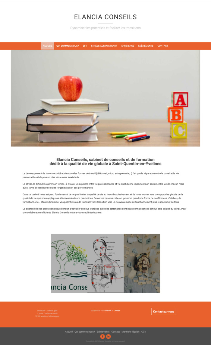 Photographie du site de Elancia Conseils